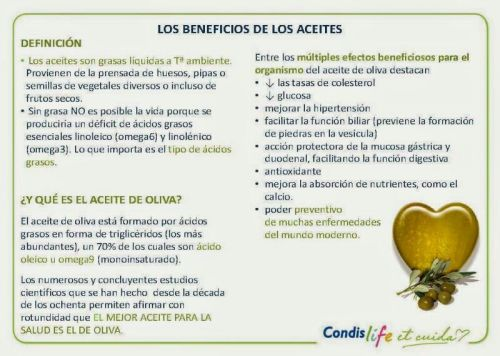 Los beneficios de los aceites